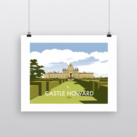 THOMPSON650: Castle Howard York (Front Facing). Greeting Card 6x6