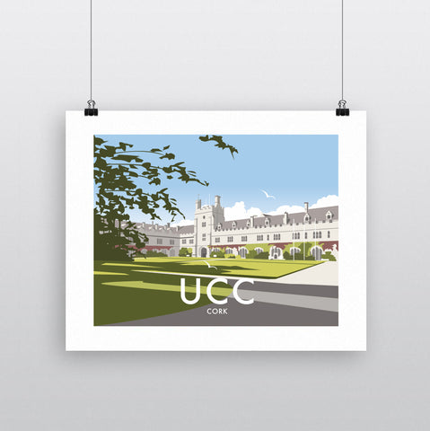 THOMPSON651: UCC Cork. Greeting Card 6x6