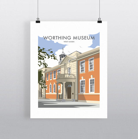 THOMPSON656: Worthing Museum West Sussex. Greeting Card 6x6