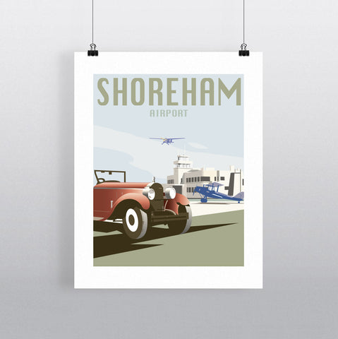 THOMPSON657: Shoreham Airport. Greeting Card 6x6