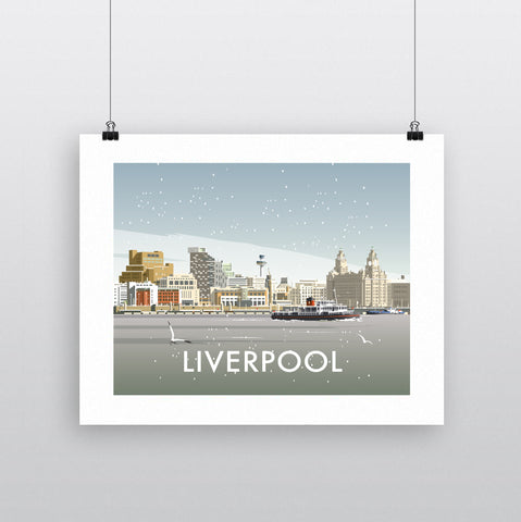 THOMPSON662: Liverpool Winter. Greeting Card 6x6