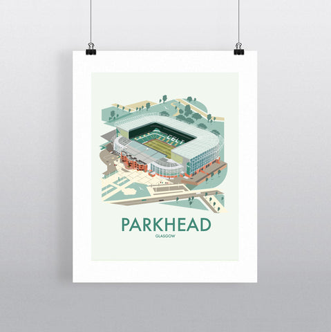 THOMPSON665: Parkhead Glasgow. Greeting Card 6x6