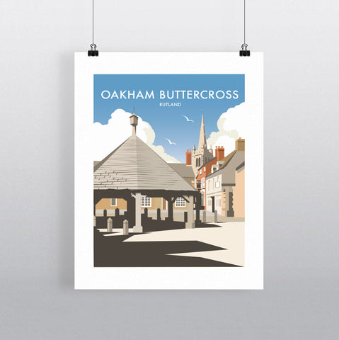 THOMPSON666: Oakham Buttercross Rutland. Greeting Card 6x6