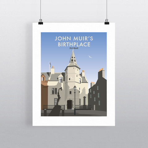 THOMPSON667: John Muir's Birthplace Dunbar. Greeting Card 6x6