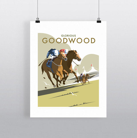 THOMPSON669: Glorious Goodwood. Greeting Card 6x6