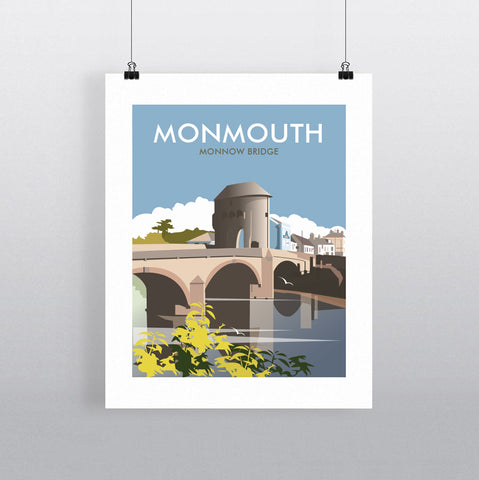 THOMPSON708: Monmouth Monnow Bridge. Greeting Card 6x6