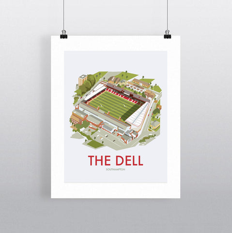 THOMPSON717: The Dell Southampton. Greeting Card 6x6