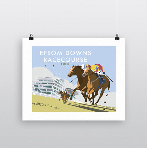 THOMPSON718: Epsom Downs Racecourse Surrey. Greeting Card 6x6