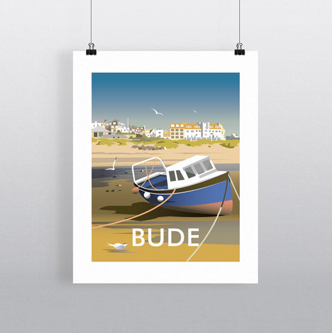 THOMPSON726: Bude Cornwall. Greeting Card 6x6
