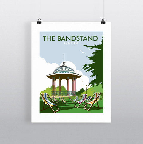 THOMPSON727: The Bandstand Clapham. Greeting Card 6x6