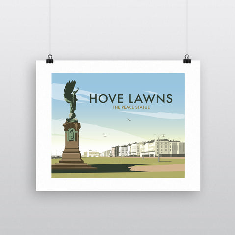 THOMPSON728: Hove Lawns The Peace Statue. Greeting Card 6x6