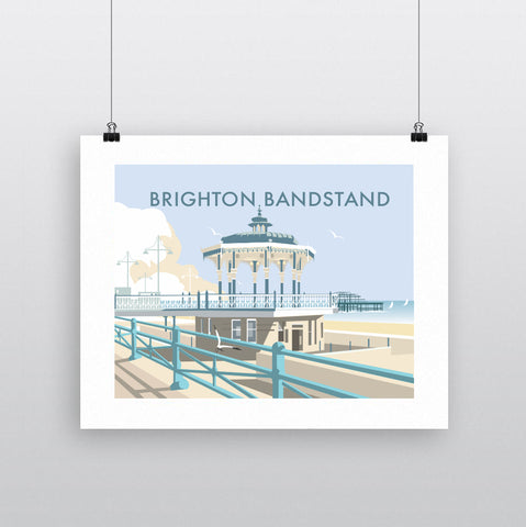 THOMPSON729: Brighton Bandstand. Greeting Card 6x6