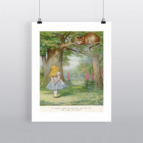 Alice's Adventures in Wonderland 11x14 Print