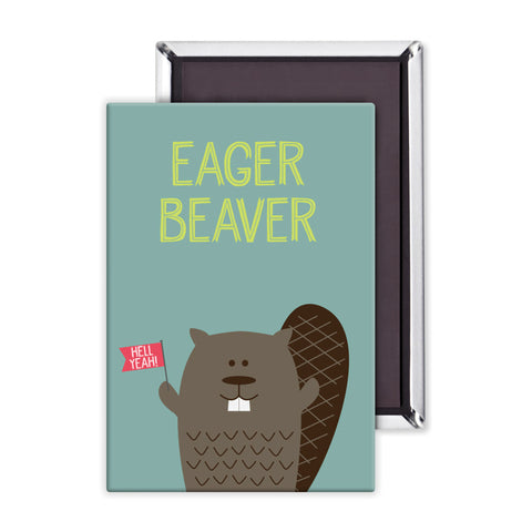 Eager Beaver Packaged Magnet