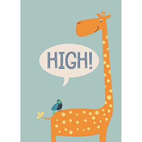 High! Giraffe and Bird Packaged Magnet