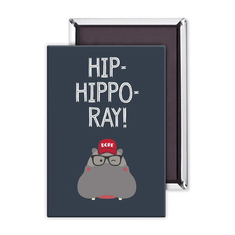 Hip-Hippo-Ray! Packaged Magnet