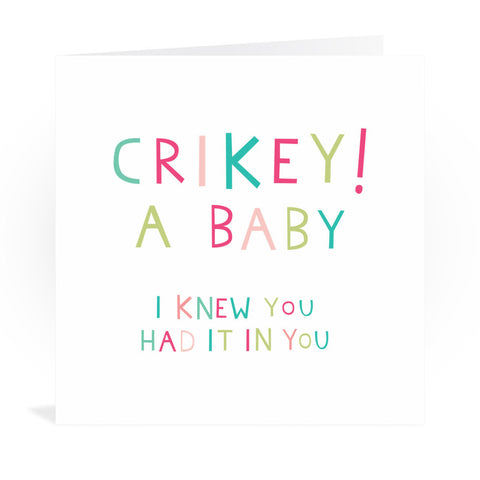 New Baby Congratulations Greeting Card Greeting Card 6x6