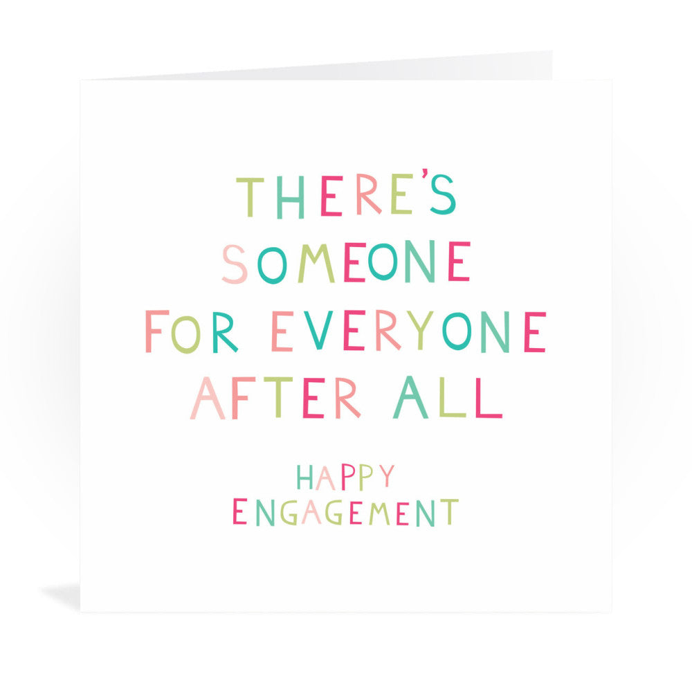 Engagement Congratulations Greeting Card Greeting Card 6x6