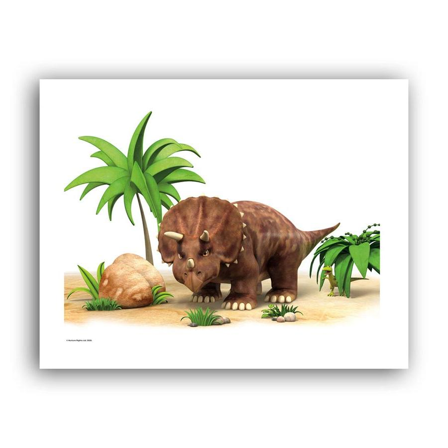 Dinosaur Stomp The Triceratops Art Print