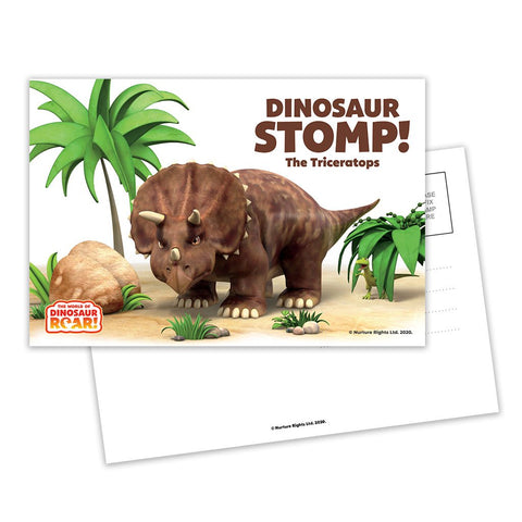 Dinosaur Stomp The Triceratops Postcard