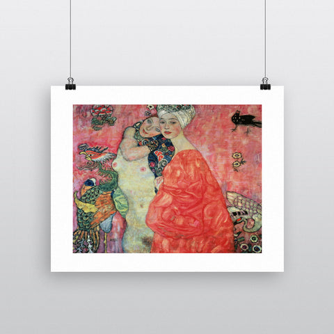 Women Friends, 1916-17 (destroyed in 1945) by Gustav Klimt 20cm x 20cm Mini Mounted Print