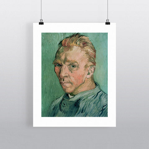 Self Portrait, 1889 (oil on canvas) by Vincent van Gogh 20cm x 20cm Mini Mounted Print
