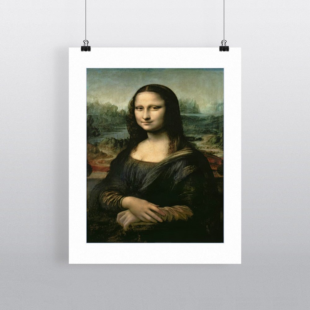 Mona Lisa, c.1503-6 (oil on panel) by Leonardo da Vinci 20cm x 20cm Mini Mounted Print