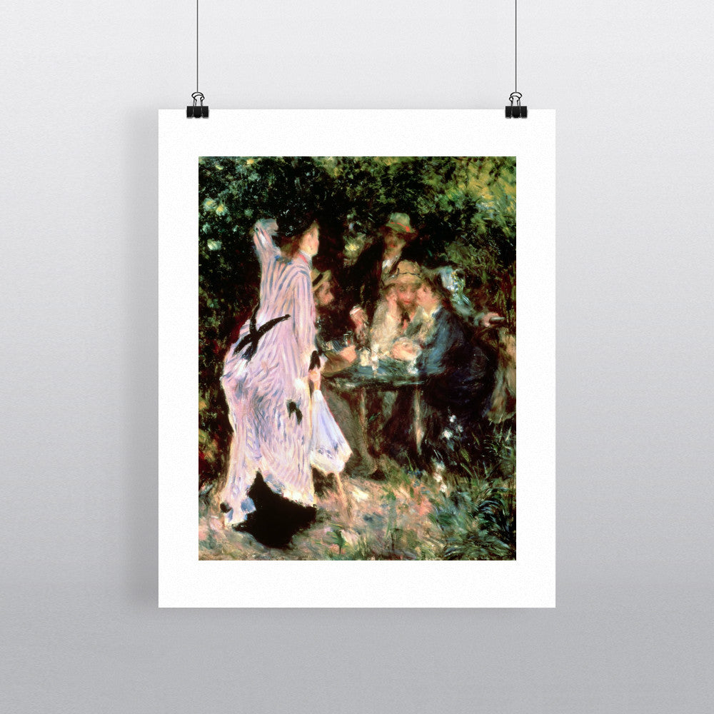 In the Garden, or Under the Trees of the Moulin de la Galette, 1875 (oil on canvas) by Pierre Auguste Renoir 20cm x 20cm Mini Mounted Print