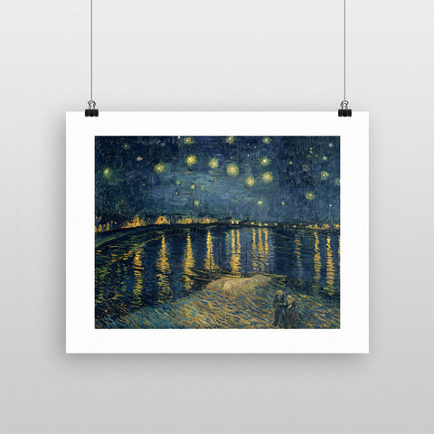 The Starry Night, 1888 (oil on canvas) by Vincent van Gogh 20cm x 20cm Mini Mounted Print