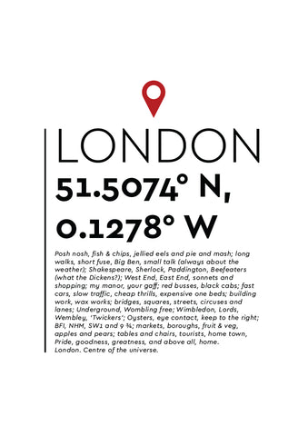 YAH001 You Are Here - London