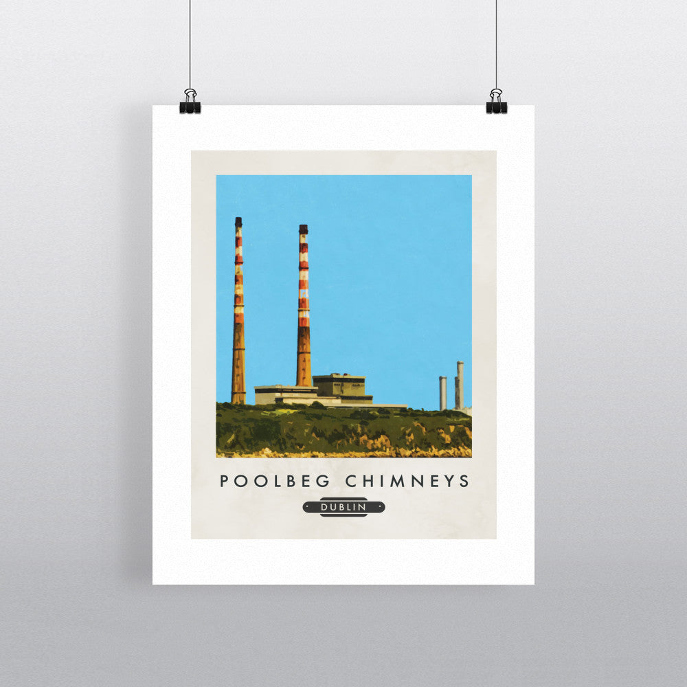 Poolbeg Chimneys, Dublin, Ireland 11x14 Print