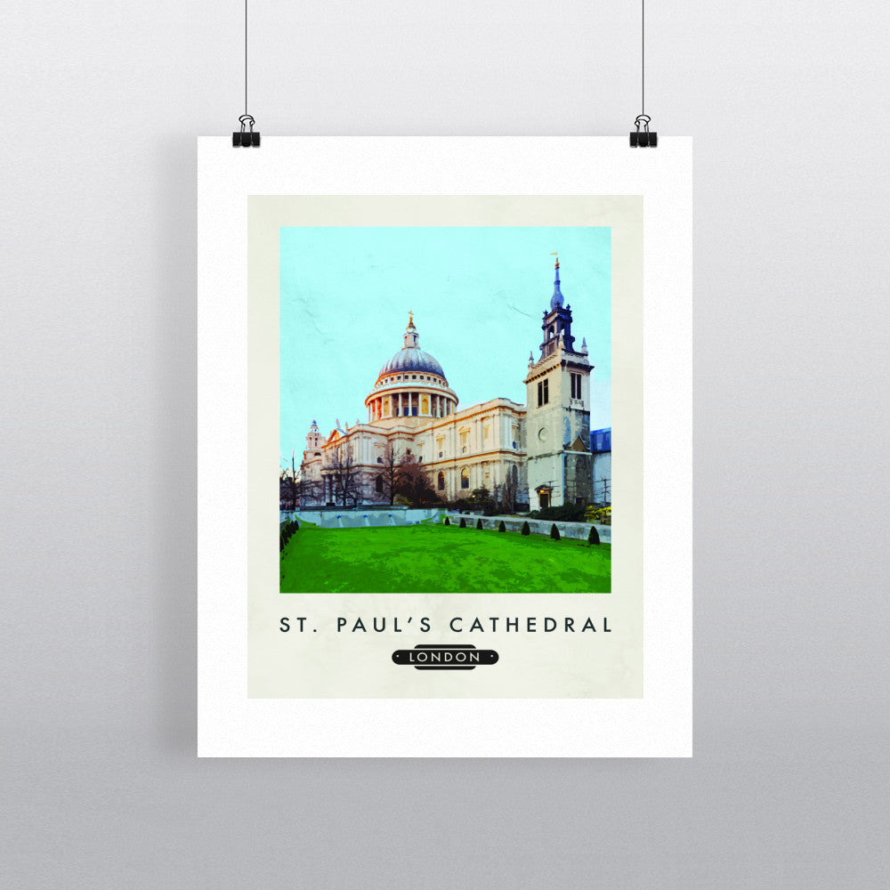 St.Pauls Cathedral, London 11x14 Print