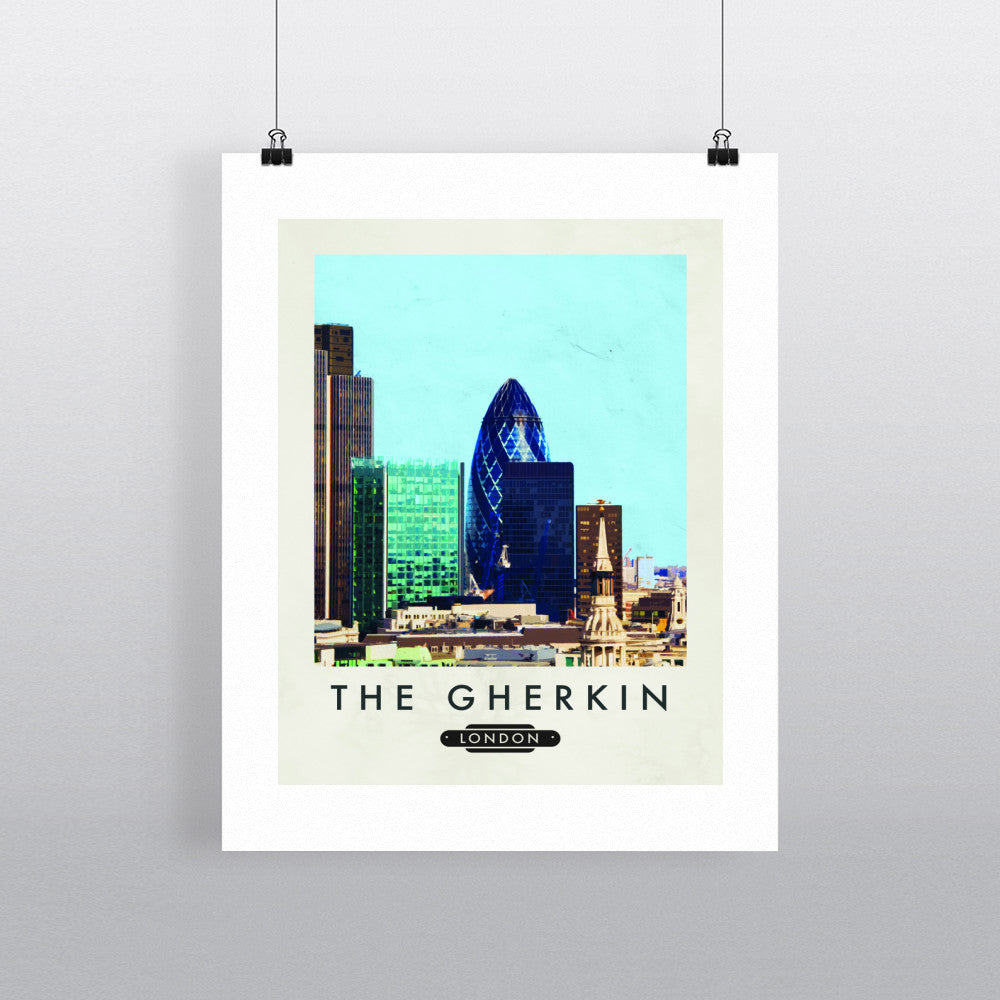 The Gherkin, London 11x14 Print
