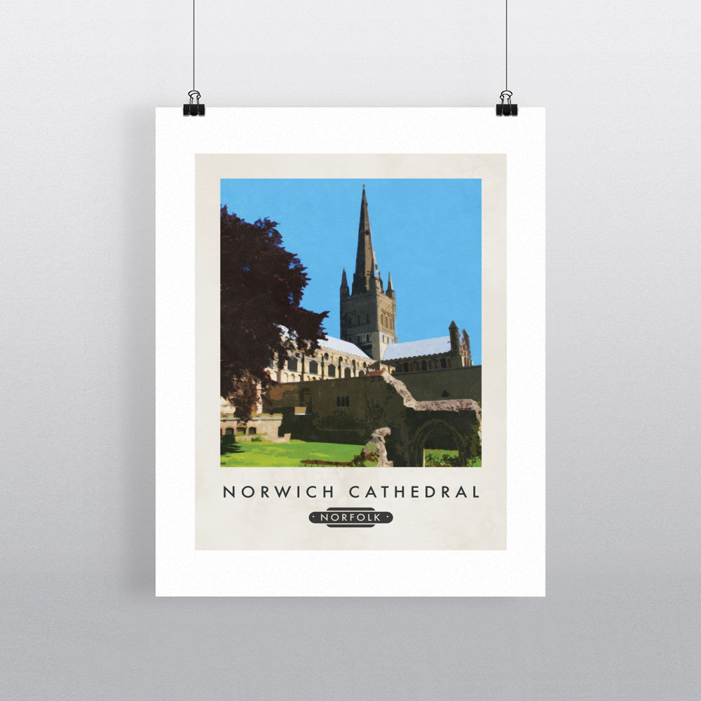 Norwich Cathedral, Norfolk 11x14 Print