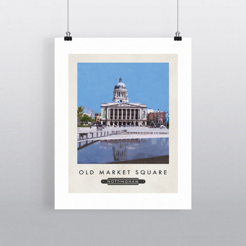 Old Market Square, Nottingham 11x14 Print