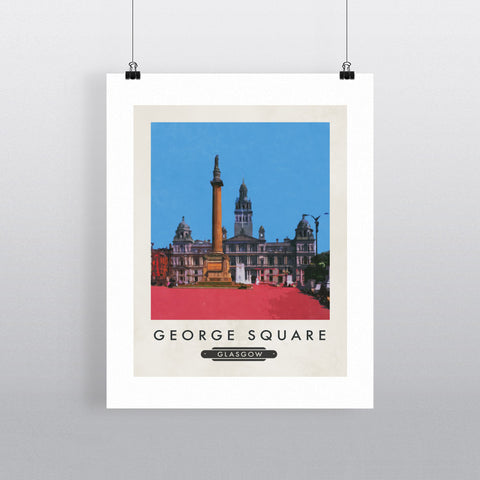 George Square, Glasgow, Scotland 11x14 Print
