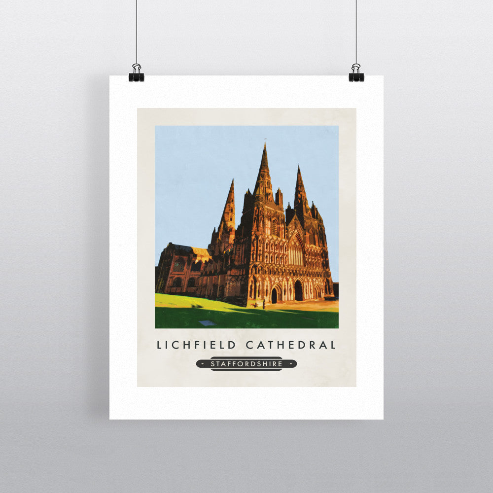 Lichfield Cathedral, Staffordshire 11x14 Print