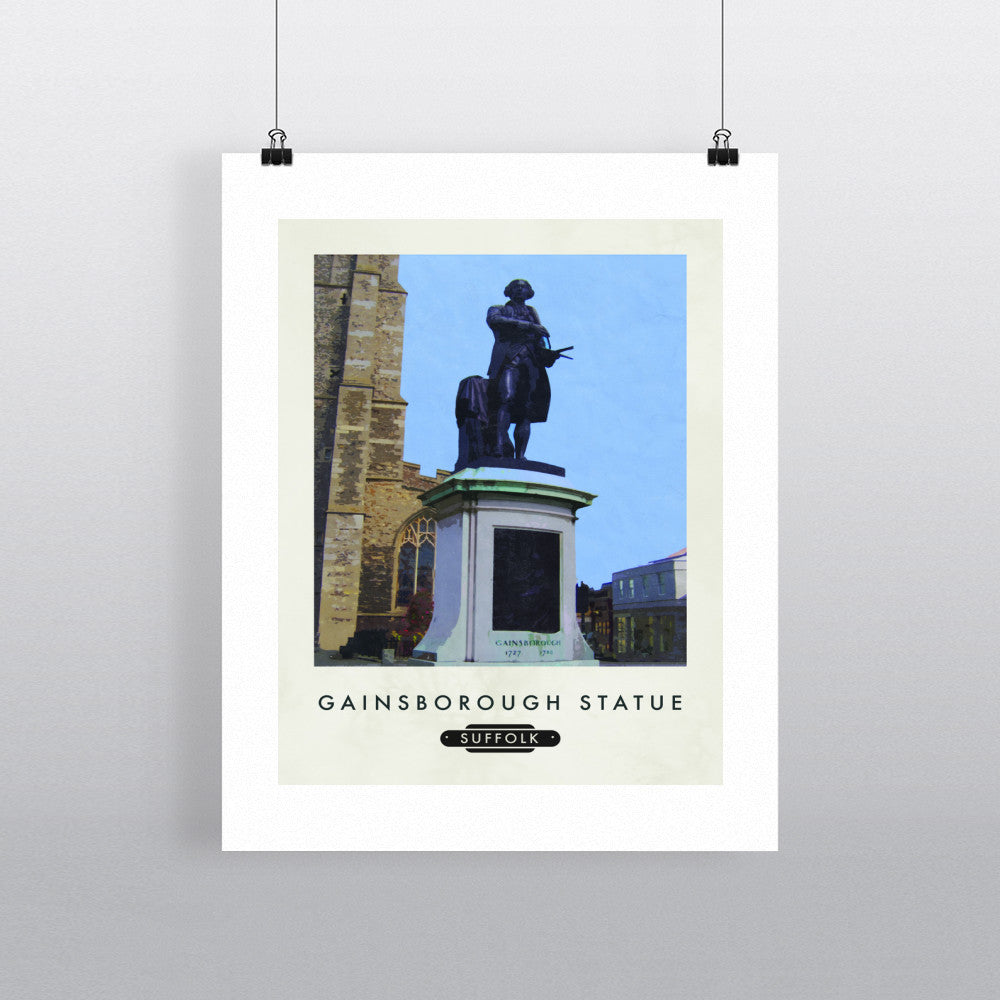 The Gainsborough Statue, Sudbury, Suffolk 11x14 Print