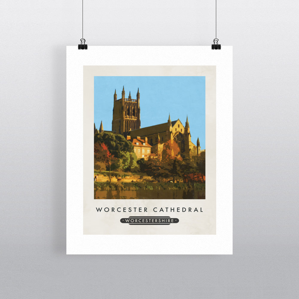 Worcester Cathedral, Worcester 11x14 Print