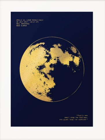 Apollo 11 - Gold Foil Print