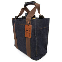 Heavyweight Raw Denim Wine Tote, Batch 1, Brown
