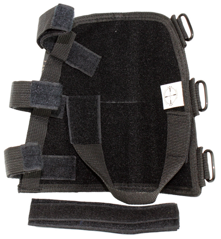 black stockpack bottom full velcro coverage with straps