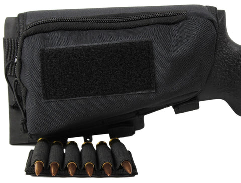 black stockpack removable ammo band