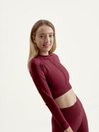 Shirt Samsara Crop Dark Berry