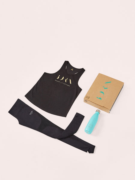 Shirt Gold + Legging Namaste + Bottle