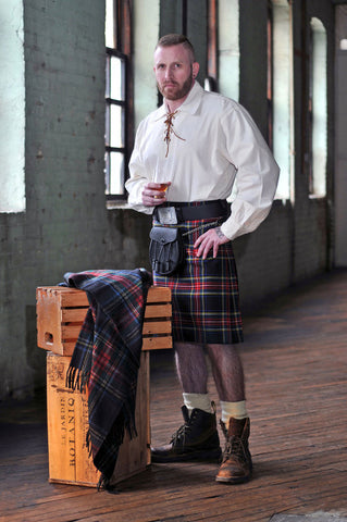 casual kilt package with peasant shirt