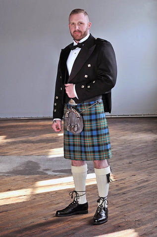 formal kilt package with prince charlie jacket