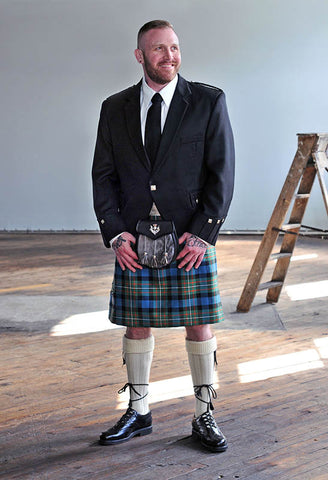 semi-formal kilt package with argyle jacket