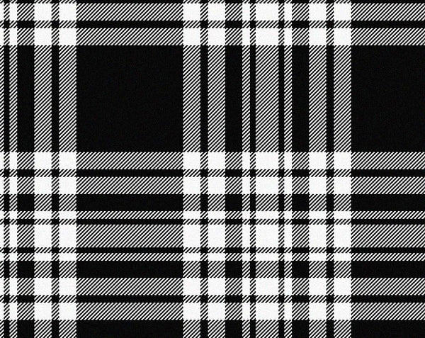 Menzies Black&White Modern Men's 4yd Kilt | Scottish Shop