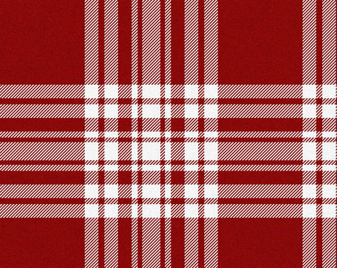 Menzies Red/White Dress Modern Men's 8yd Kilt | Scottish Shop